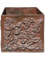 square cast iron Jardiniere cachepot liberty