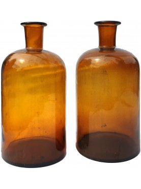 "ANCIENT BIG PHARMACY BOTTLES ""AMBRA"" TYPE"