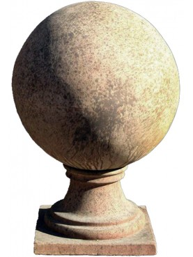 Sfera in terracotta Ø45cm con base