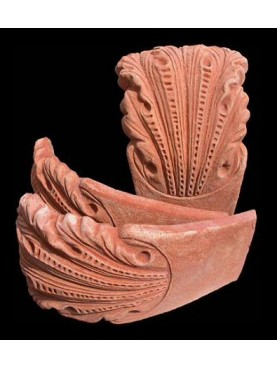Aiuola in terracotta