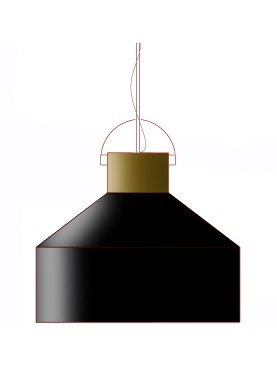 Industrial enamelled iron ceiling lights