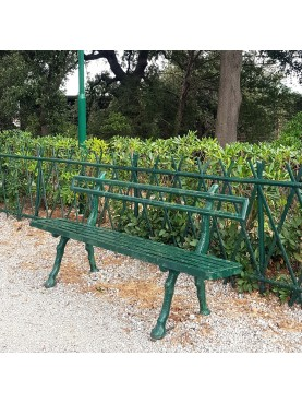 Cast-Iron and Iron garden bench from Genova