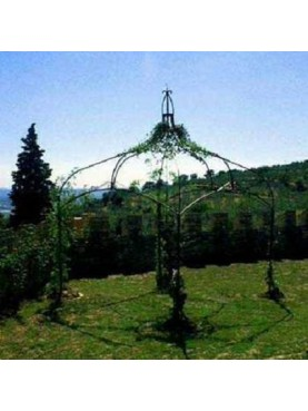 Gazebo for climbing plants forged iron