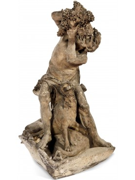after pietro bernini, 19th century - satyr with panther