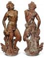 A FAUN - terracotta sculpture, height cm 171