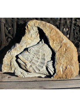 Bassorilievo in pietra - Scorfano