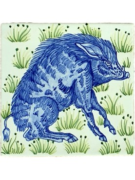 English Liberty Majolica tile WILLIAM DE MORGAN Arts and Crafts