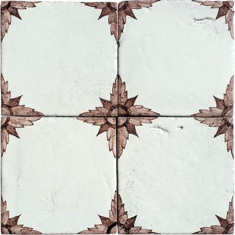 Piastrella in maiolica di nostra produzione 15 x 15 cm