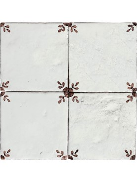 Manganese Majolica tile - our production 15 x 15 cm