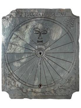 Octagonal sundial in Black slate from Franch