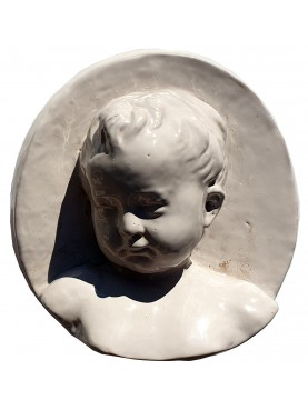 """Robbiano"" child of the SS Annunziata SX - majolica"