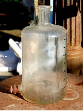 ANTICA BOTTIGLIA in vetro DA FARMACIA con rubinetto