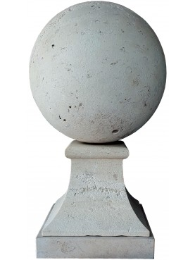 SPHERE Ø35 cm WITH square BASE - limestone