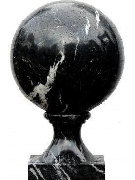 Sfera con base quadrata Ø 40 cm - Nero Marquina