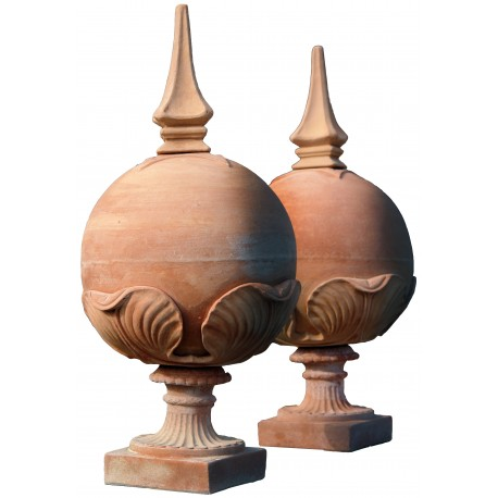 Le sfere con puntale H.84cm terracotta