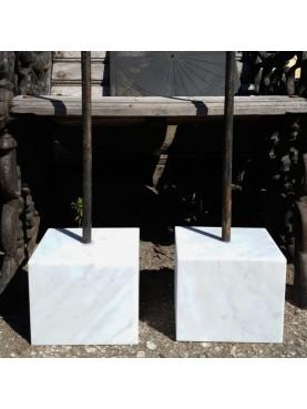 Supporto in marmo per sculture in terracotta modello rettangolare