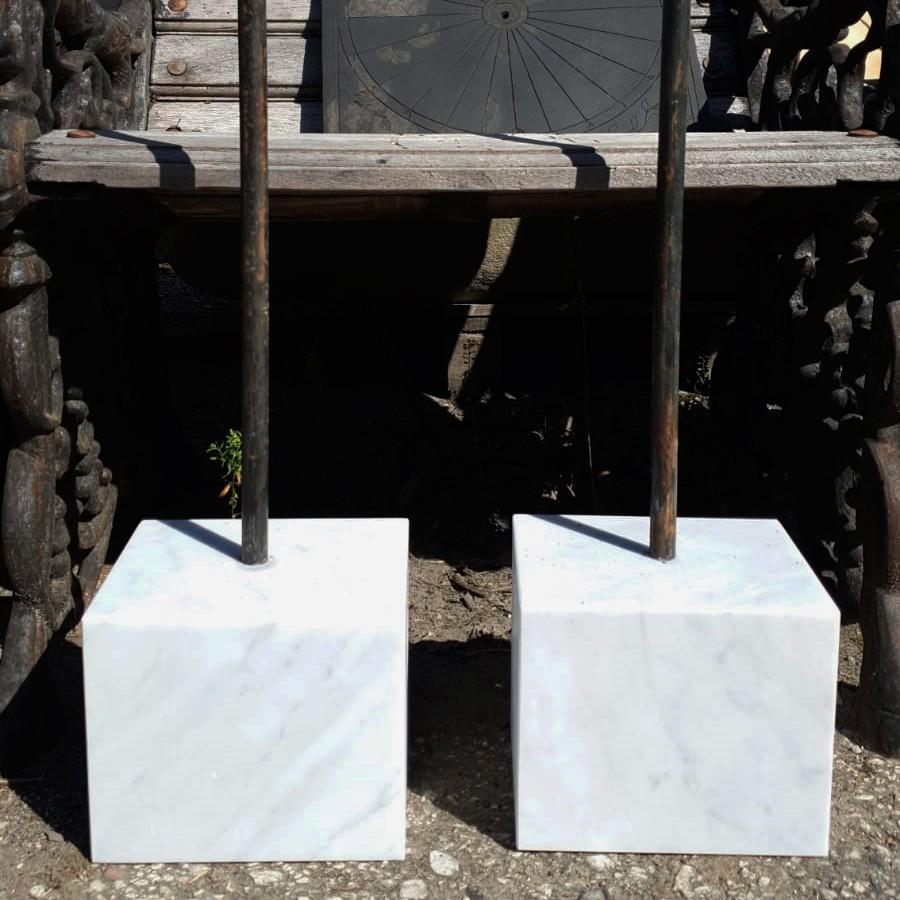 Mensole In Marmo Per Termosifoni supporto in marmo h.15cm/15x18cm per sculture in terracotta
