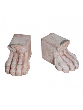 Large terracotta foot support for vases