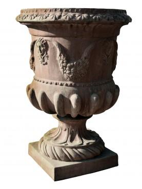 Coppa Valentino - vaso in terracotta del Vanvitelli alla Reggia di Caserta