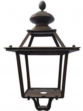 Tuscan forged-iron Lantern with pine cone and lower support