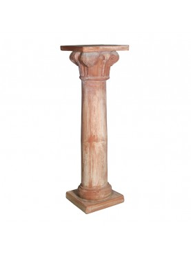 Colonna per statua in terracotta H. 77cm