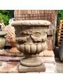 Festooned cement vase H48 cms