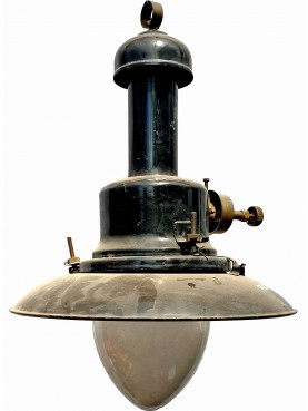 Large antique lampara in iron Ø 33 cm