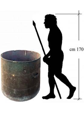 antichi Grandi contenitori per piante - bidoni in ferro A