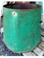 antichi Grandi contenitori per piante - bidoni in ferro E