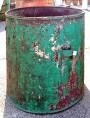 antichi Grandi contenitori per piante - bidoni in ferro F