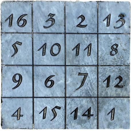 Il Quadrato magico - La tabella del Durer - marmo