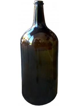 Bottiglie soffiate da vino piementesi ambra bruna