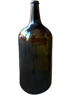 wine Bottles blown from Piedmontese brown amber