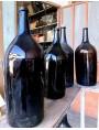 wine Bottles blown from Piedmontese brown amber