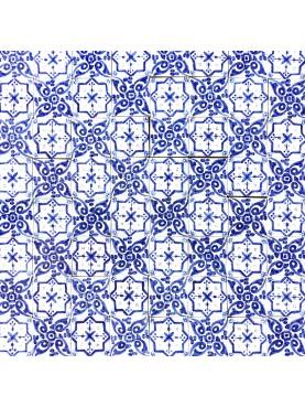 hand-made Majolica Morocco tile panel - 1 sm 100 tiles