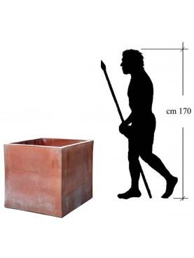 Grande Cassetta quadrata 71x71x68cm in terracotta