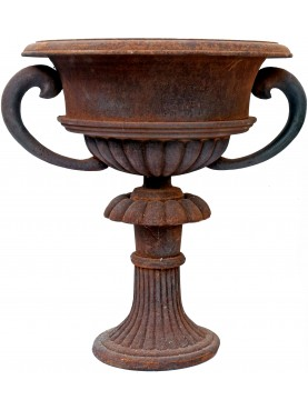 ancient cast iron vase