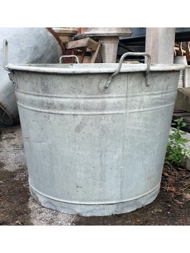 Huge oversized zinc baths over 60 cm in diameter