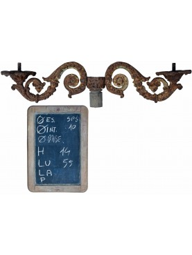 Ancient Cast iron candelabrum