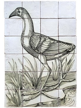Tiles Panel with Swamphen by Gessner
