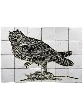 Tiles Panel Owl by Aldrovandi