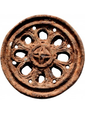 Neapolitan ancient round Cast-iron decoration for garden-gates