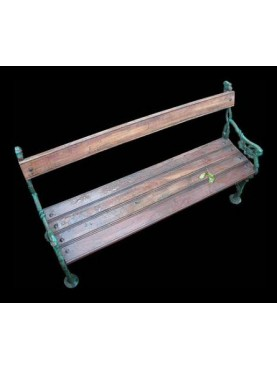 Originale Panchina Ghisa e legno