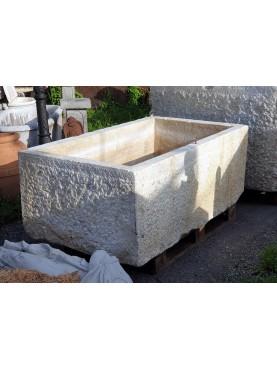 GIGANTESCA Vasca in marmo originale antica - pila da lardo