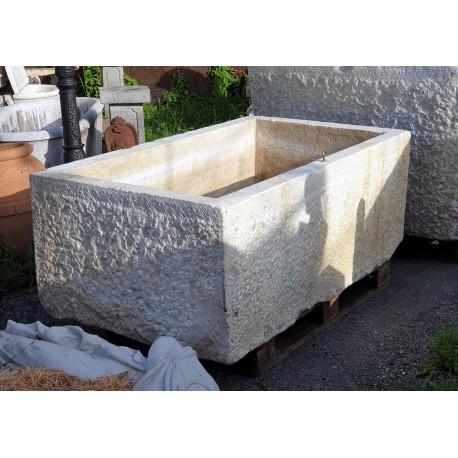 GIGANTIC Colonnata marble basin for lard