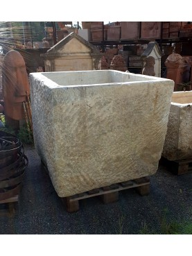 GIGANTIC Colonnata marble basin for lard