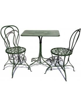 Due sedie e un tavolino 3 pezzi