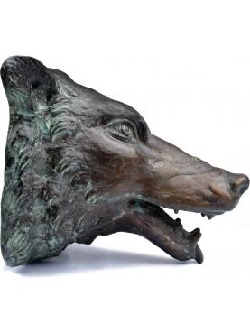 Mascherone di Lupo per fontana in Bronzo - copia delle teste delle navi romane di Nemi