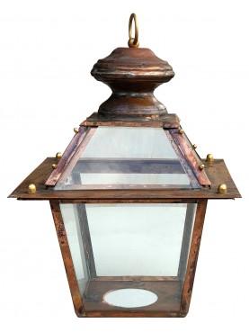 Lanterna in rame Toscana con anello senza supporto inferiore