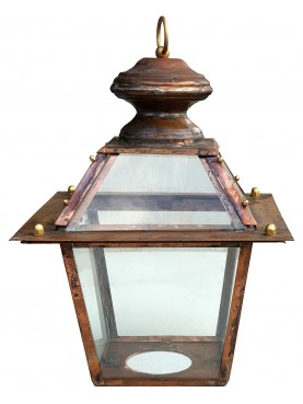 Tuscan copper classic Lantern with ring